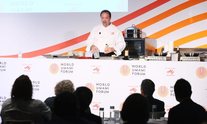 chef chris koetke culinary demo at world umami forum